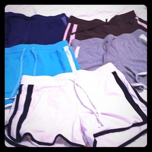 5 gym shorts all great condition size 4-6